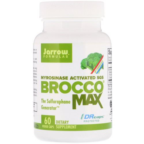 Jarrow Formulas, BroccoMax, Myrosinase Activated SGS, 60 Veggie Caps Review