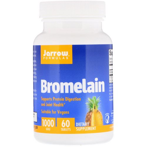 Jarrow Formulas, Bromelain, 1,000 GDU, 60 Tablets Review
