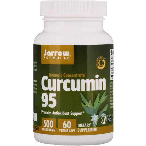 Jarrow Formulas, Curcumin 95, 500 mg, 60 Veggie Caps Review