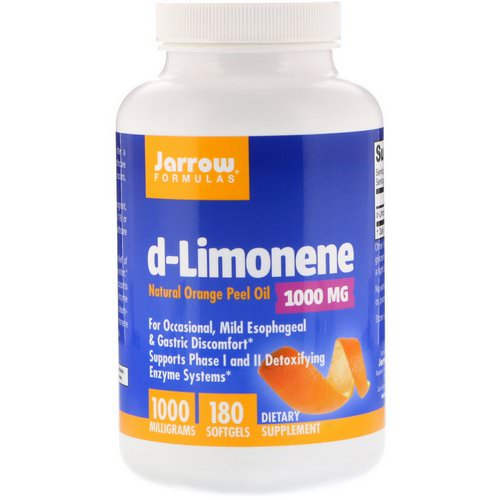 Jarrow Formulas, d-Limonene, 1000 mg, 180 Softgels Review