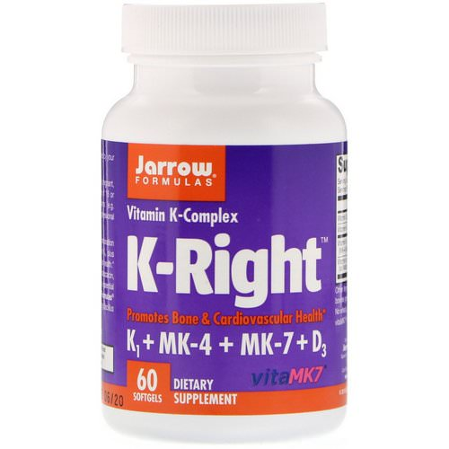 Jarrow Formulas, K-Right, Vitamin K Complex, 60 Softgels Review