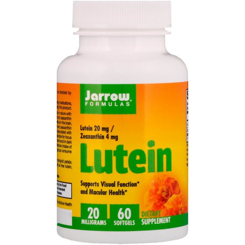 Jarrow Formulas, Lutein, 20 mg, 60 Softgels Review