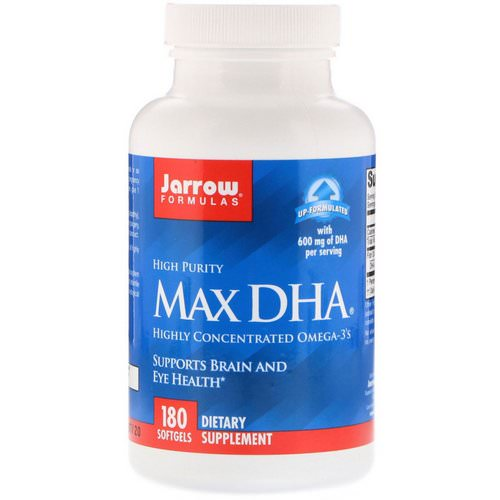 Jarrow Formulas, Max DHA, 180 Softgels Review