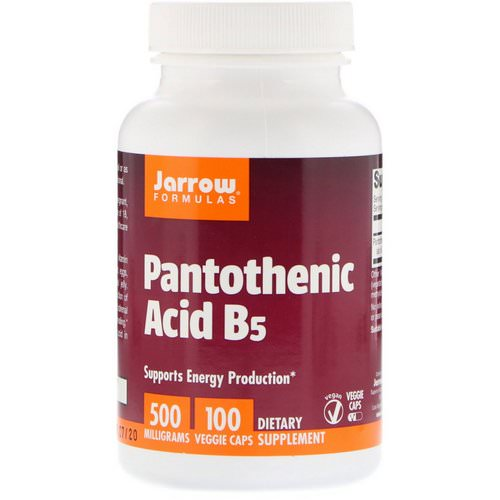 Jarrow Formulas, Pantothenic Acid B5, 500 mg, 100 Veggie Caps Review