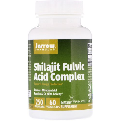 Jarrow Formulas, Shilajit Fulvic Acid Complex, 250 mg, 60 Veggie Caps Review