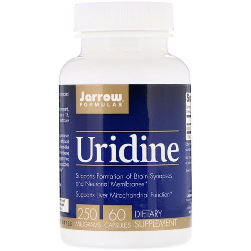 Jarrow Formulas, Uridine, 250 mg, 60 Capsules Review