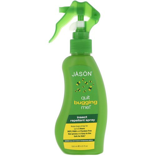 Jason Natural, Quit Bugging Me! Insect Repellant Spray, 4.5 fl oz (133 ml) Review