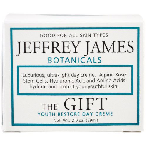 Jeffrey James Botanicals, The Gift, Youth Restore Day Creme, 2.0 oz (59 ml) Review