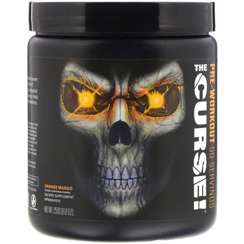 JNX Sports, The Curse, Pre Workout, Orange Mango, 8.8 oz (250 g) Review