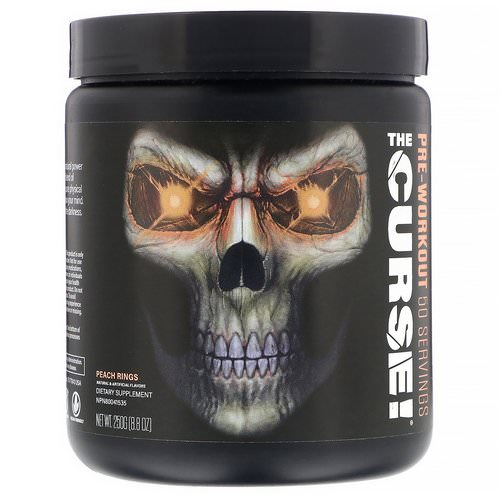 JNX Sports, The Curse, Pre-Workout, Peach Rings, 8.8 oz (250 g) Review