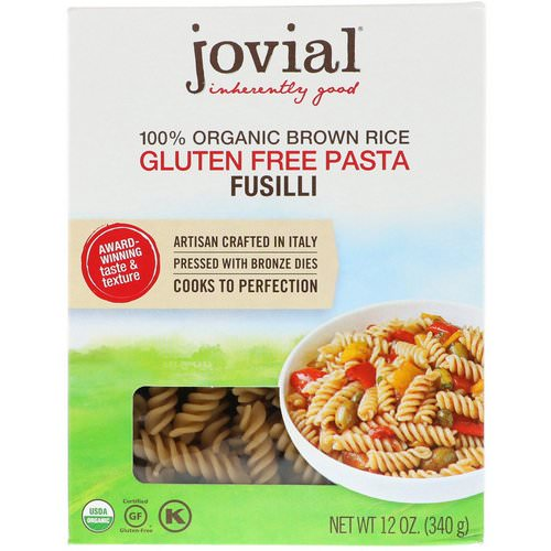 Jovial, 100% Organic Brown Rice Pasta, Fusilli, 12 oz (340 g) Review