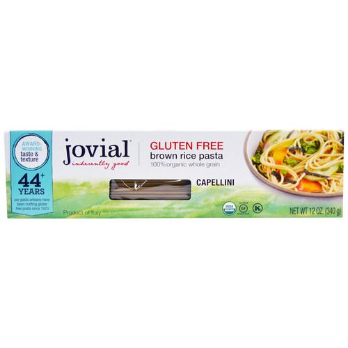 Jovial, Brown Rice Pasta, Capellini, 12 oz (340 g) Review