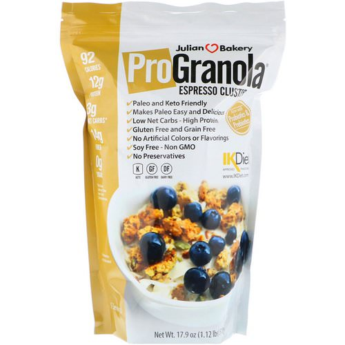 Julian Bakery, Pro Granola, Espresso Cluster, 17.9 oz (510 g) Review