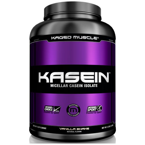 Kaged Muscle, Kasein, Micellar Casein Isolate, Vanilla Shake, 4 lbs (1.8 kg) Review