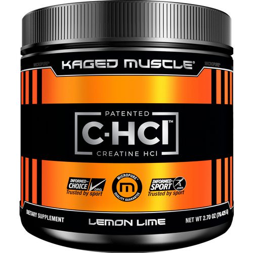 Kaged Muscle, Patented C-HCL Creatine, Lemon Lime, 2.70 oz (76.425 g) Review
