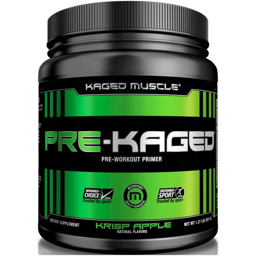 Kaged Muscle, Pre-Kaged, Pre-Workout Primer, Krisp Apple, 1.37 lbs (621 g) Review