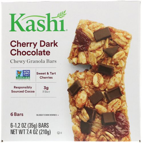 Kashi, Chewy Granola Bars, Cherry Dark Chocolate, 6 Bars, 1.2 oz (35 g) Each Review