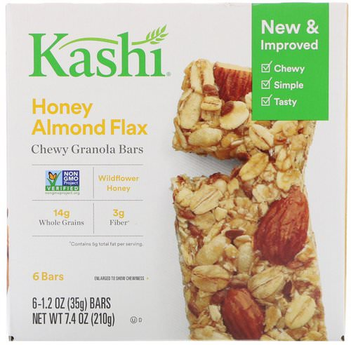 Kashi, Chewy Granola Bars, Honey Almond Flax, 6 Bars, 1.2 oz (35 g) Each Review