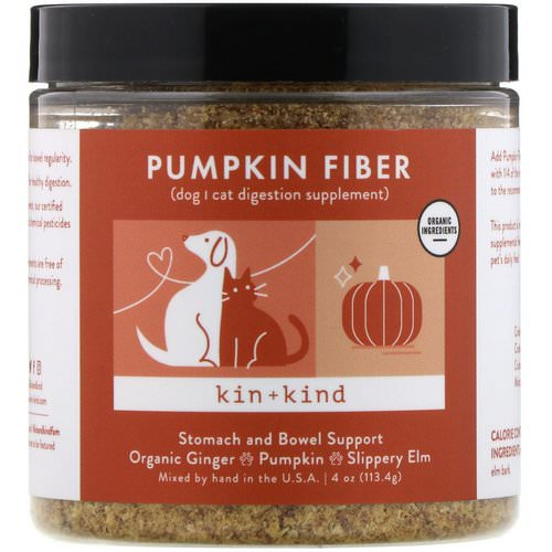 Kin+Kind, Pumpkin Fiber, Stomach and Bowel Support, 4 oz (113.4 g) Review