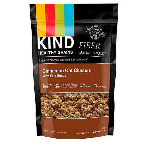 KIND Bars, Healthy Grains, Cinnamon Oat Clusters with Flax Seeds, 11 oz (312 g) Review
