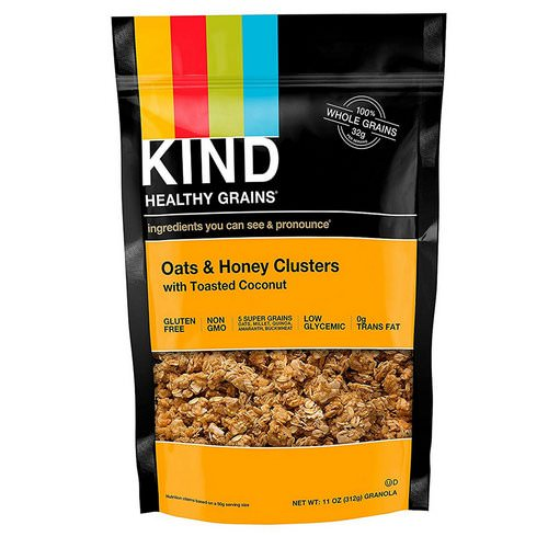 KIND Bars, Healthy Grains, Oats & Honey Clusters with Toasted Coconut, 11 oz (312 g) Review