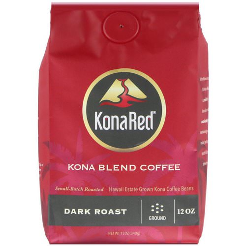 KonaRed, Kona Blend Coffee, Dark Roast, Ground, 12 oz (340 g) Review