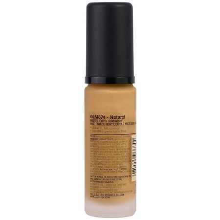 基礎, 臉部: L.A. Girl, Pro Matte HD Foundation, Natural, 1 fl oz (30 ml)
