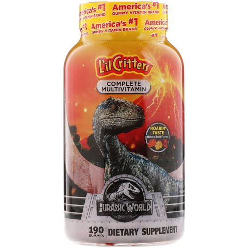 L'il Critters, Complete Multivitamins, Jurassic World, Natural Fruit Flavors, 190 Gummies Review