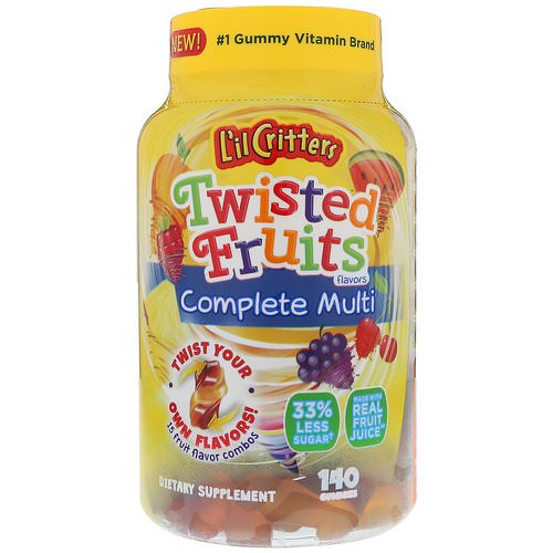 L'il Critters, Twisted Fruits Complete Multivitamin, 140 Gummies Review