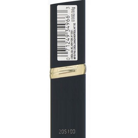 唇膏, 嘴唇: L'Oreal, Colour Riche Matte Lipstick, 405 Doesn't Matte-R, .13 oz (3.6 g)