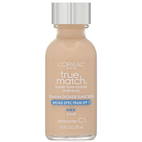 L'Oreal, True Match Super-Blendable Makeup, C1 Alabaster, 1 fl oz (30 ml) Review