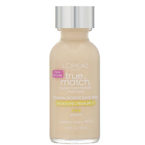 L'Oreal, True Match Super-Blendable Makeup, W0.5 Creamy Ivory, 1 fl oz (30 ml) Review