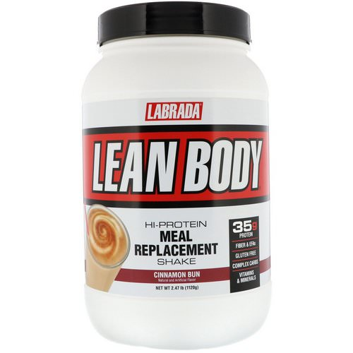 Labrada Nutrition, Lean Body, Hi-Protein Meal Replacement Shake, Cinnamon Bun, 2.47 lbs (1120 g) Review