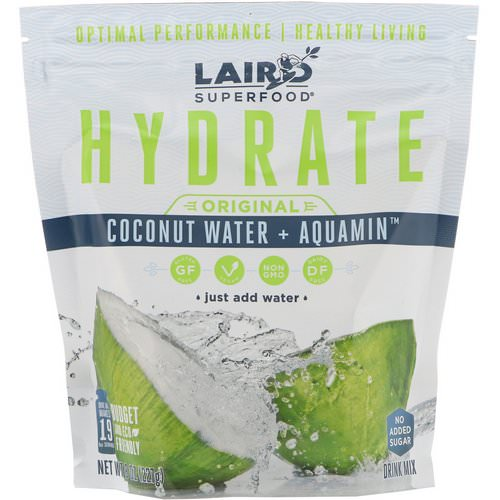 Laird Superfood, Hydrate, Original, Coconut Water + Aquamin, 8 oz (227 g) Review