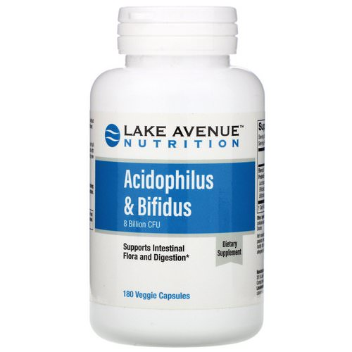 Lake Avenue Nutrition, Acidophilus & Bifidus, 8 Billion CFU, 180 Veggie Capsules Review