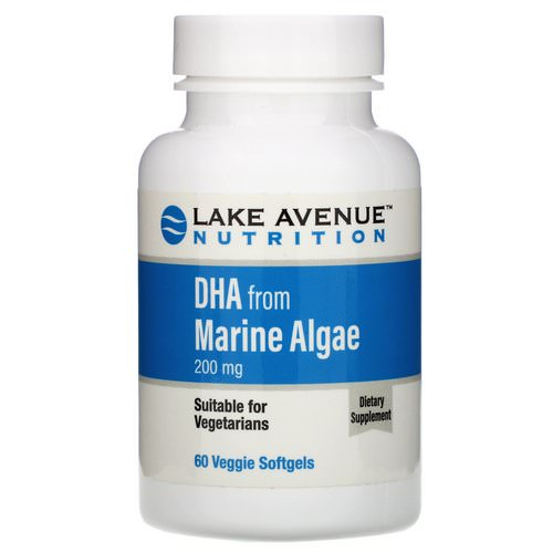 Lake Avenue Nutrition, DHA from Marine Algae, Vegetarian Omega, 200 mg, 60 Veggie Softgels Review