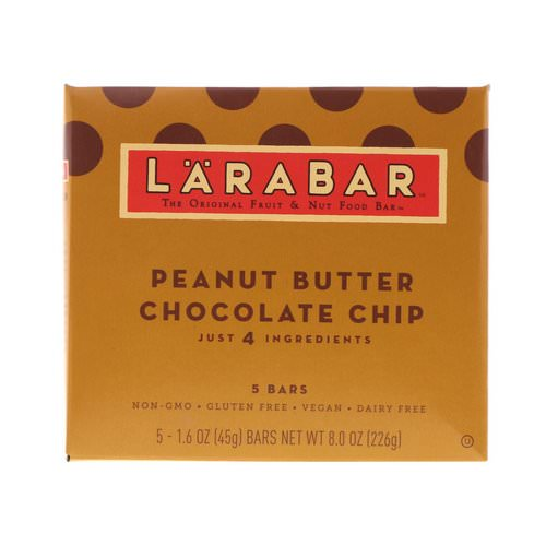 Larabar, Peanut Butter Chocolate Chip, 5 Bars, 1.6 oz (45 g) Each Review