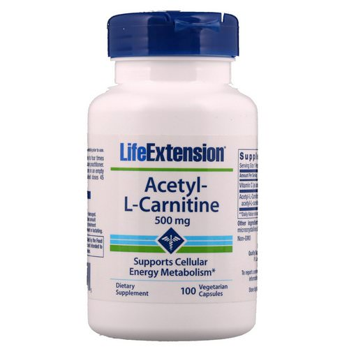 Life Extension, Acetyl-L-Carnitine, 500 mg, 100 Vegetarian Capsules Review