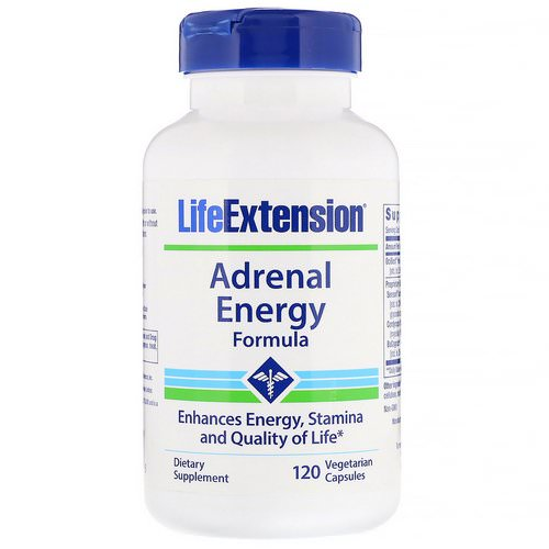 Life Extension, Adrenal Energy Formula, 120 Vegetarian Capsules Review