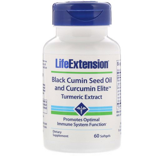 Life Extension, Black Cumin Seed Oil and Curcumin Elite Turmeric Extract, 60 Softgels Review