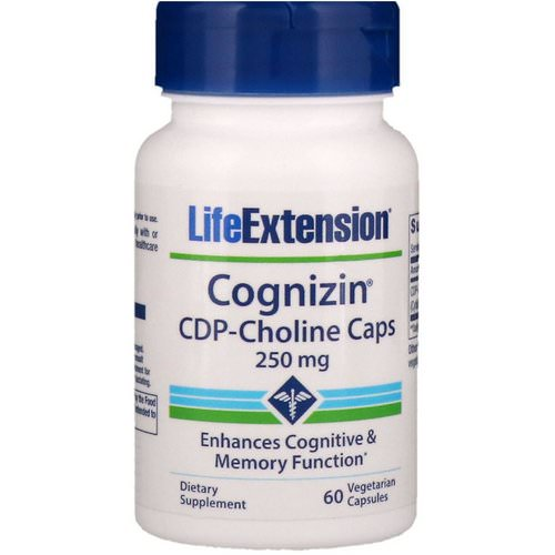 Life Extension, Cognizin, CDP-Choline Caps, 250 mg, 60 Vegetarian Capsules Review