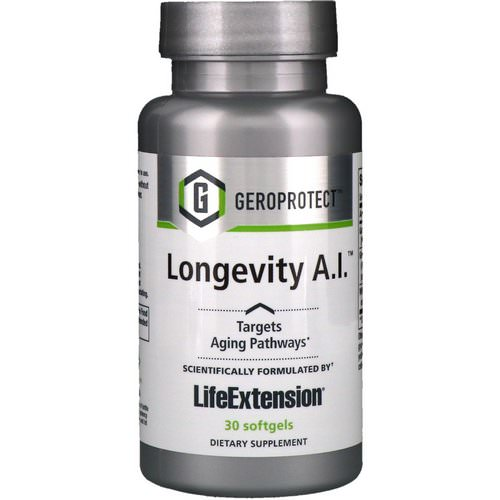 Life Extension, Geroprotect, Longevity A.I, 30 Softgels Review