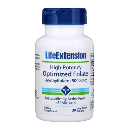 Life Extension, High Potency Optimized Folate, 5000 mcg, 30 Vegetarian Tablets Review