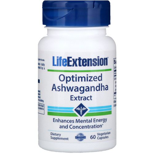 Life Extension, Optimized Ashwagandha Extract, 60 Vegetarian Capsules Review