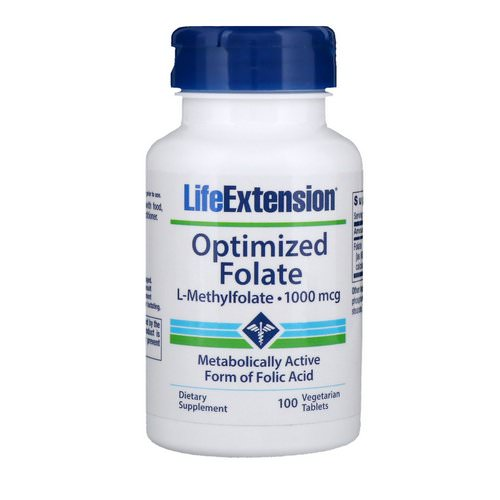 Life Extension, Optimized Folate, 1,000 mcg, 100 Vegetarian Tablets Review