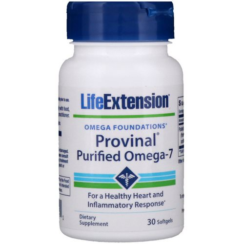 Life Extension, Provinal Purified Omega-7, 30 Softgels Review