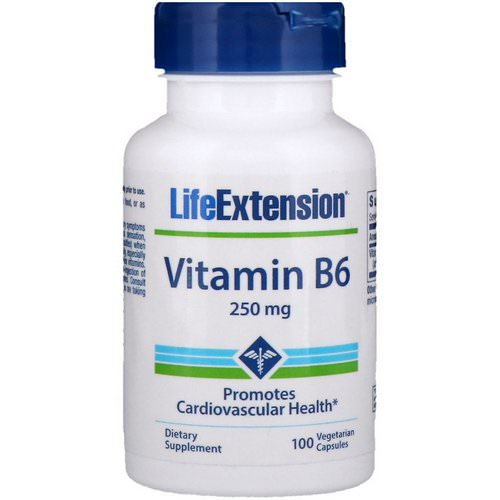 Life Extension, Vitamin B6, 250 mg, 100 Vegetarian Capsules Review