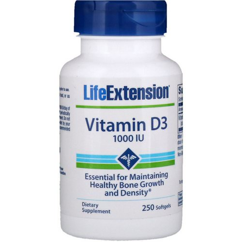 Life Extension, Vitamin D3, 1000 IU, 250 Softgels Review