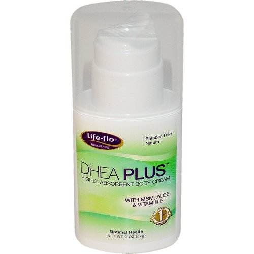 Life-flo, DHEA Plus, Highly Absorbent Body Cream, 2 oz (57 g) Review