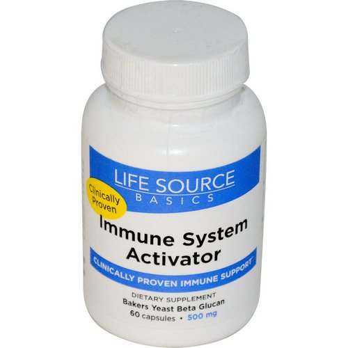 Life Source Basics (WGP Beta Glucan), Immune System Activator, 500 mg, 60 Capsules Review